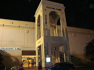 Plaza del Caribe - One of Plaza del Caribe's entrances at nighttime.