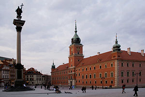 Polish nationalism - Castle Square in Warsaw with the Royal Castle and the  Sigismund's Column commemorating (Swedish-origin) King Sigismund III Vasa of the Polish–Lithuanian Commonwealth.