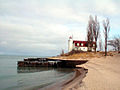 Point Betsie Lighthouse from down the beach (76454364).jpg