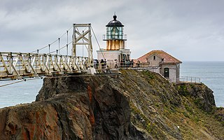 Point Bonita Lighthouse Lighthouse at Point Bonita at the San Francisco Bay entrance, California, US