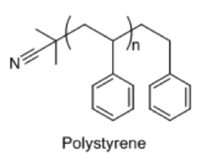 End-group - Polystyrene initiated with AIBN.