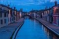 Ponte San Pietro nell'ora blu - Centro storico di Comacchio.jpg