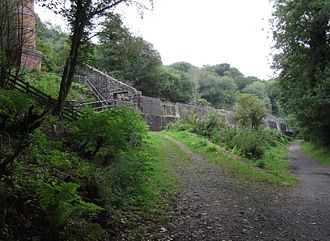 Cornwall Minerals Railway - Remains of the Central Cornwall Kiln
