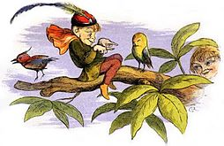 Poor little birdie teased by Richard Doyle.jpg