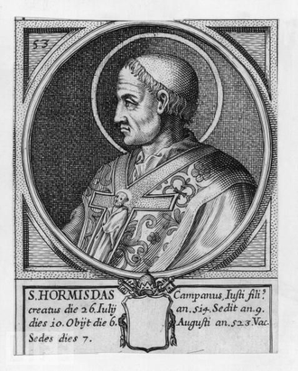 Pope Hormisdas - Pope St. Hormisdas