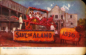 Fiesta San Antonio - Image: Popular float in the Battle of Flowers, San Antonio, Texas