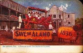 Fiesta San Antonio - Image: Popular float in the Battle of Flowers, San Antonio, Texas