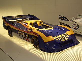 "Mark Donohue - The ""Can-Am killer"", Porsche 917-30, on display at the Porsche Stuttgart-Zuffenhausen Museum, Germany"