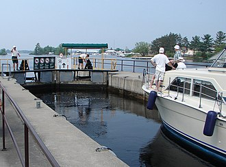 Severn, Ontario - The Trent-Severn Waterway in Port Severn.