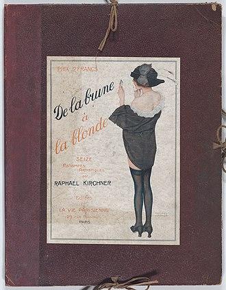 "Raphael Kirchner - Image: Portfolio with plates from ""De la Brune à la Blonde"" and other designs by Raphael Kirchner MET DP861939"