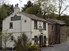 exterior of country pub