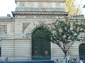 Sophie Germain - Entrance to the historic building of the École Polytechnique