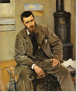BERGH Richard Portrait of painter Nils Kreuger 1883