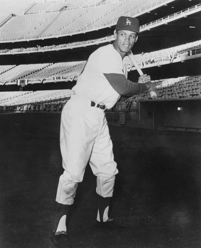 Portrait of the baseball player Maury Willis ca1960 (cropped)