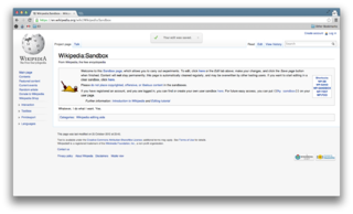 how to create wikipedia page from sandbox