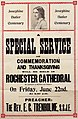 Poster - Josephine Butler Centenary. A special service of commemoration, 1928. (22893825576).jpg