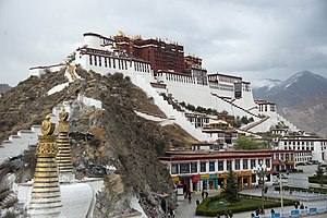 Potala Palace - The Potala Palace in Lhasa.