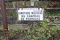 Poteau Michelin direction Cimetière Militaire Château Perreuse Jouarre 2.jpg