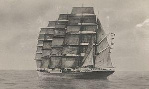 Barque - Five-masted barque Potosi (ca. 1895-1920)