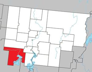 Preissac, Quebec - Image: Preissac Quebec location diagram