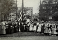 Presentation of flag to Elmira College by DAR Chemung Chapter (Elmira, New York) Chapter on September, 29, 1917.png
