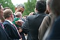President Barack H. Obama, center, holds a child while visiting Section 60 of Arlington National Cemetery in Arlington, Va., May 27, 2013 130527-A-VS818-490.jpg