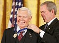 President George W. Bush presents the Presidential Medal of Freedom to Andy Griffith.jpg