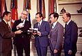 President Nixon with Dr. James Fletcher and Apollo 16 Astronauts - GPN-2002-000104.jpg