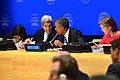 President Obama Chats With Secretary Kerry at the Leaders' Summit to Counter ISIL and Violent Extremism at UN Headquarters in New York City (21832150801).jpg