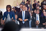 President and first lady cheer on performers at 57th Inaugural Parade 130121-Z-QU230-274.jpg