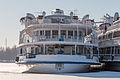 Prezident in Winter at Khimki Reservoir Stern View 10-feb-2015.jpg