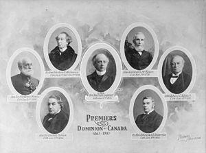 Οι πρωθυπουργοί του Καναδά της περιόδου 1867–1907.