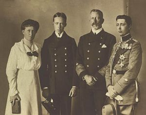 Prince Henry of Prussia (1862–1929) - Prince Henry with his wife, Princess Irene, and their sons Waldemar and Sigismund