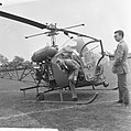 Prins Bernhard bij finish ronde van Nederland, aankomst Prins per helicopter, Bestanddeelnr 917-7783.jpg
