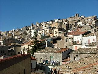 Prizzi Comune in Sicily, Italy