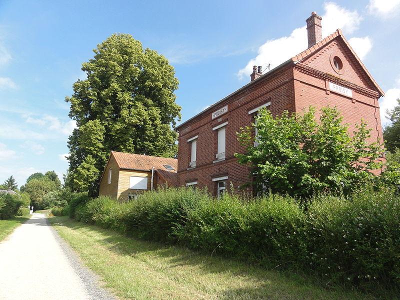 Proisy (Aisne) Axe vert, ancienne gare