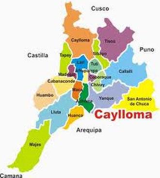 Caylloma Province - Image: Provincia de Caylloma