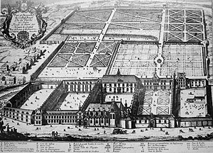Prytanée National Militaire - Engraving of the Prytanée, 18th century.