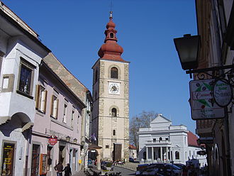 Ptuj - Town Tower and Ptuj Town Theatre
