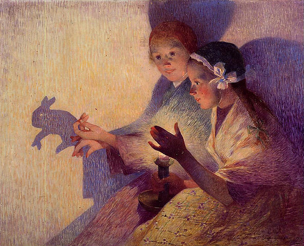 592px-Puigaudeau,_Ferdinand_du_-_Chinese_Schadows,_the_Rabbit.jpeg (592×480)