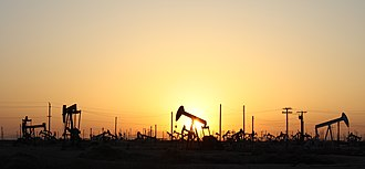 Lost Hills Oil Field - There are hundreds of pumpjacks on Lost Hills Oilfield near route 46.