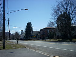 Looking south on Old Route 15 in Putnam Township