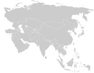 Yellow-eared bulbul - Image: Pycnonotus penicillatus distribution map