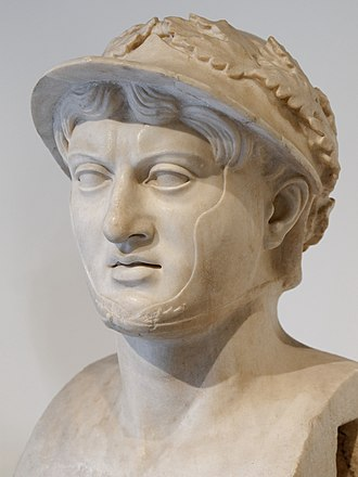 Roman Republic - Bust of Pyrrhus, found in the Villa of the Papyri at Herculaneum, now in the Naples Archaeological Museum.  Pyrrhus was a brave and chivalrous general who fascinated the Romans, hence his presence in a Roman house.