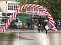 Queen's Baton Relay - Centenary Square - red and white balloons arch (14309273346).jpg