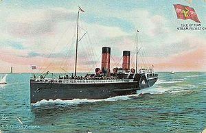 SS Queen Victoria (1887) - Postcard depiction of Queen Victoria.