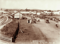 Queensland State Archives 2498 Laidley Railway Station with farmers wagons on Corn Day c 1898.png