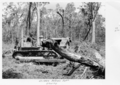 Queensland State Archives 4306 Bulldozer clearing at the Childers Soldiers Settlement 1950.png