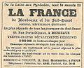 Réclame La France de Bordeaux & du Sud-Ouest-1921.jpg