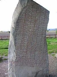 La pierre de Rök(wp), en Suède, IXesiècle.